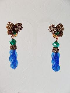 vintage stiilis ehted kõrvarõngad kristallid Swarovski