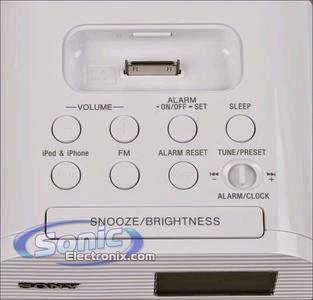 SONY FM CLOCK RADIO ICF-C05IP MANUAL