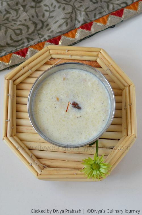 Kheer with milk and rice