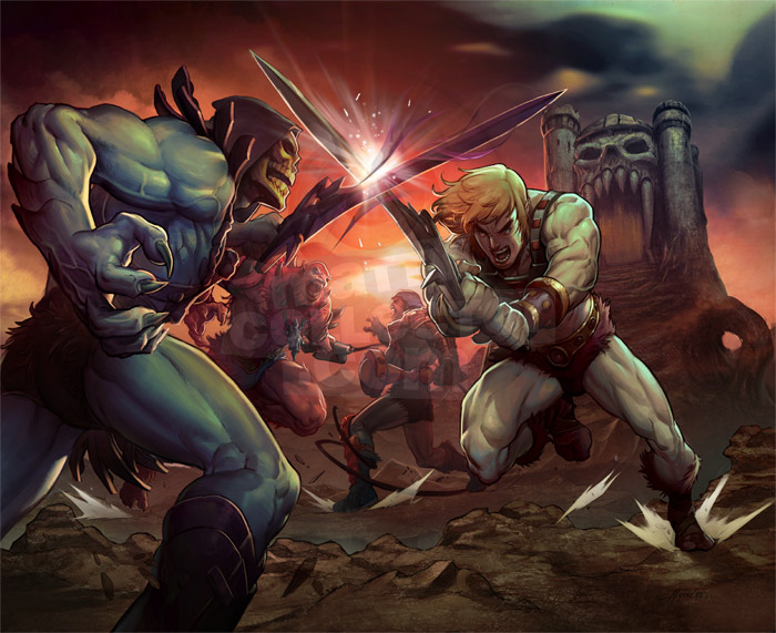 HeMan vs Skeletor 30°Aniversario
