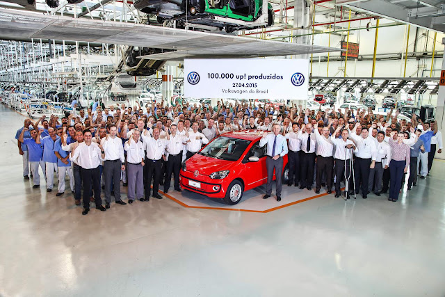 Volkswagen up!: 100 mil unidades produzidas no Brasil