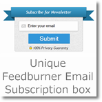 Unique Feedburner Email Subscription box for Blogger/Wordpress