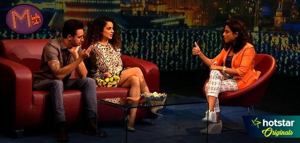 "Bollywood Queen Kangana Ranaut defined Bollywood's ""good friends"" as f#@ck buddies and gave a rollicking start to RJ Malishka's new show on Hotstar, M Bole Toh.  Star India's OTT platform Hotstar has just commissioned RJ Malishka to produce a 60-minute talk show."