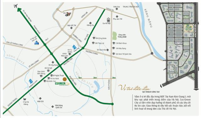 Vị trí dự án chung cư Eco Green City Nguyễn Xiển