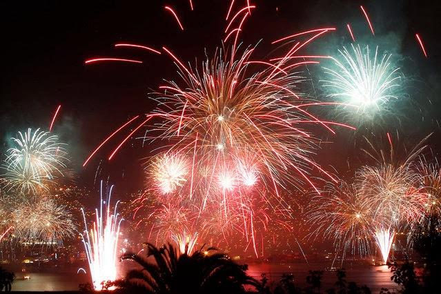 Fuegos Artificiales, año nuevo 2014, Valparaiso, Chile