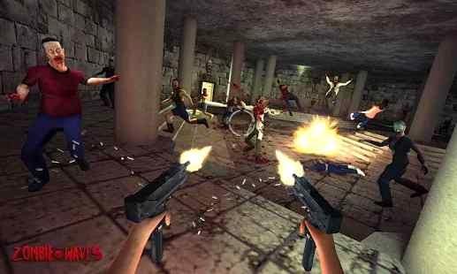 Trigger Zombie Waves Strike 3D Android Apk Oyunu resimi 1
