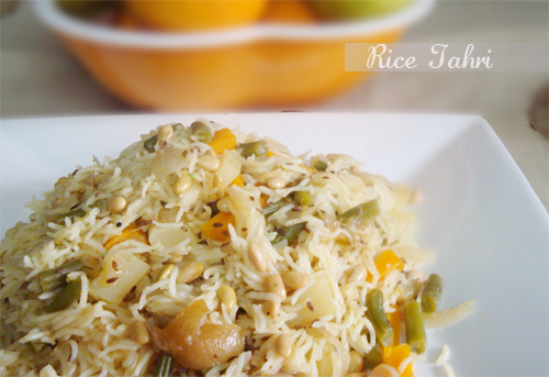 Vegetable and bean tahari by my tasty treats for Awadhi cuisine book