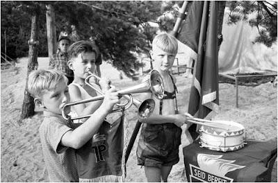 Junge pioniere mit trompete und trommel 1958 www ddr fotos de marco
