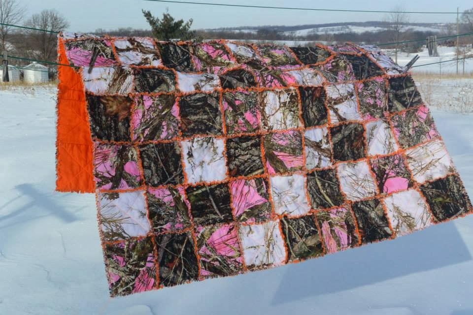 Life gets in the way of my Knitting!: Aimee's Camouflage Rag Quilt : camouflage quilt - Adamdwight.com