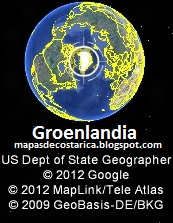 Groenlandia, google earth 2012