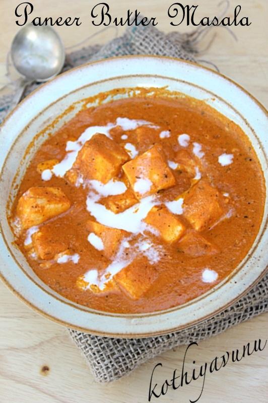 Paneer Butter Masala Recipe - Paneer Makhani Recipe - Butter Paneer ...
