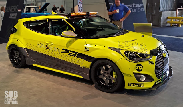 Yellow Hyundai Veloster Turbo