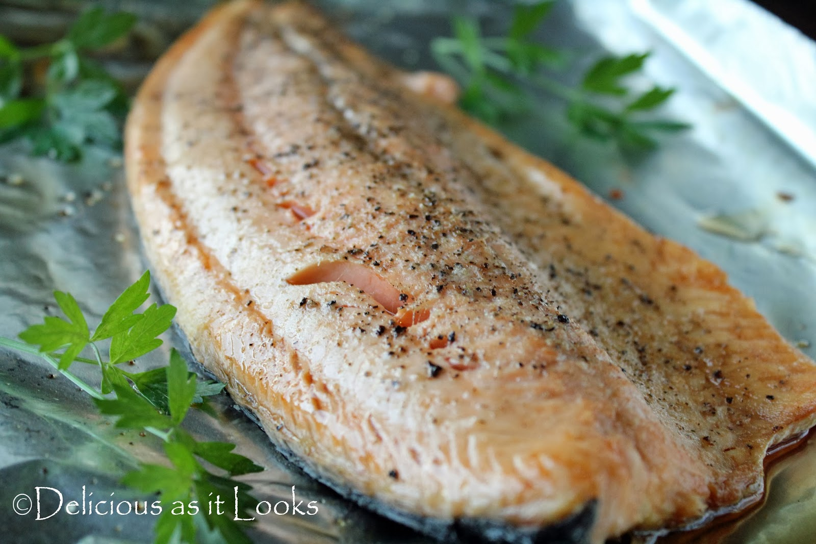 Garlic Roasted Salmon  /  Delicious as it Looks