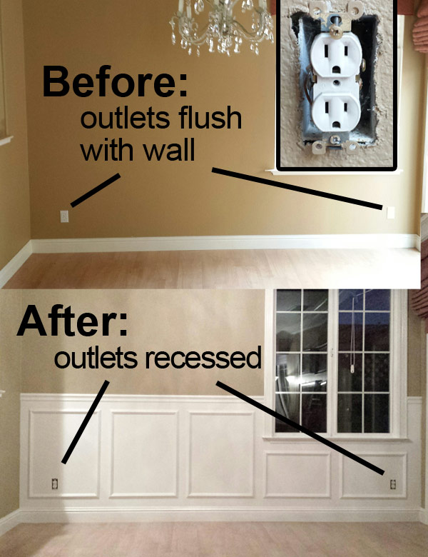 Kyle Switch Plates: Get Your Outlet to Sit Flush With the Wall in 1 on tile around outlets, baseboard around outlets, insulation around outlets, drywall around outlets, trim around outlets, stone around outlets, molding around outlets,