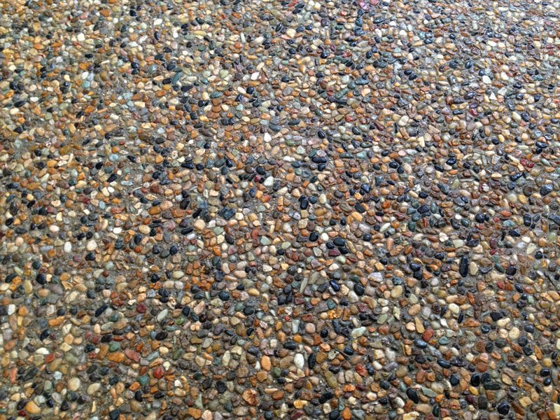 Japanese Plastering Exposed Aggregate Floor