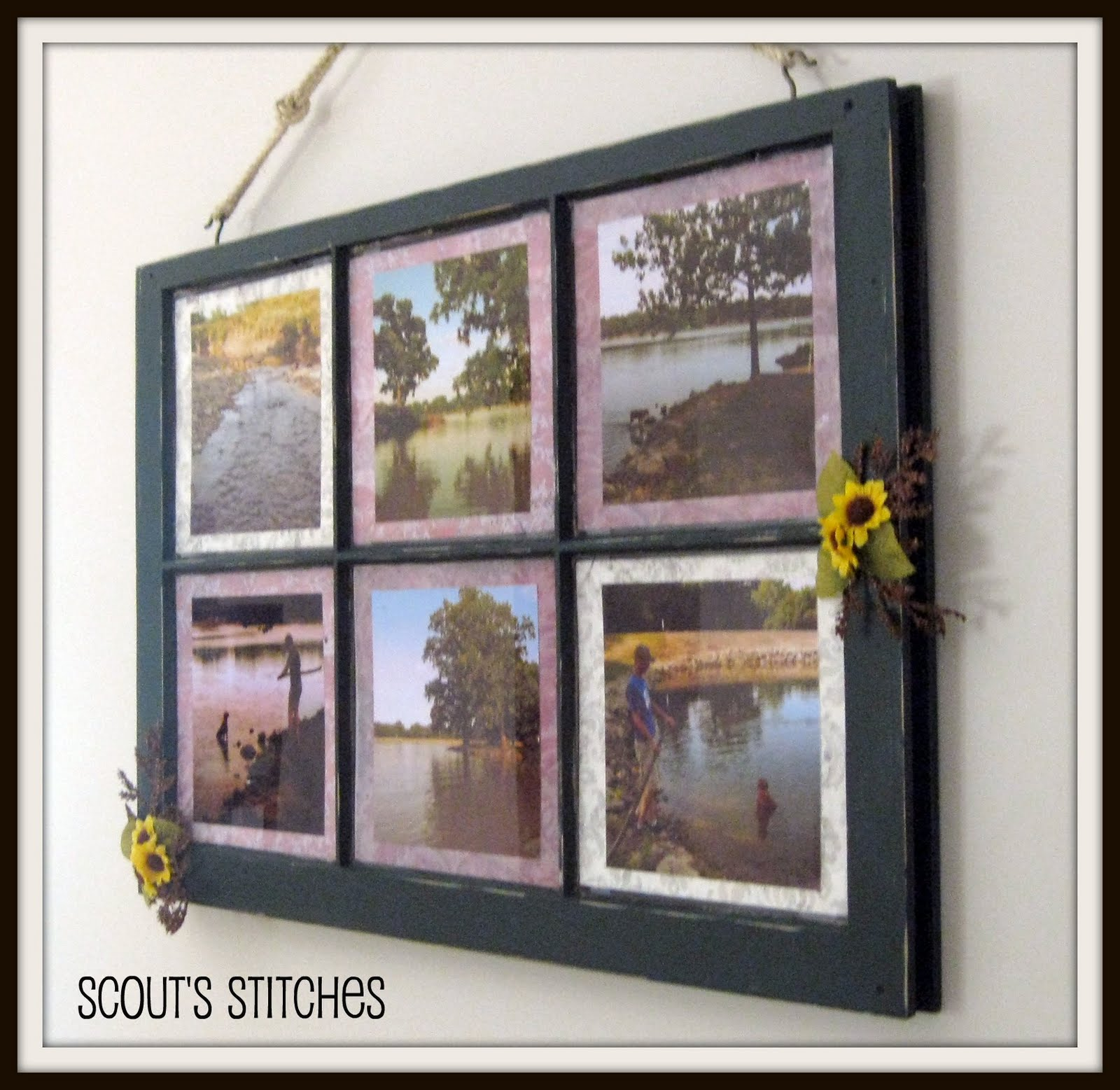 all the joy distressed window frame picture frame