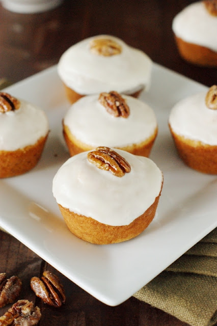 Bourbon-Glazed Sweet Potato Muffins | from The Kitchen is My ...