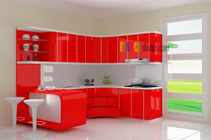 Kitchenset Pelangi Desain Interior Kitchen Set Red