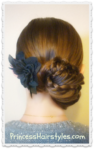 Prom hairstyle, video tutorial