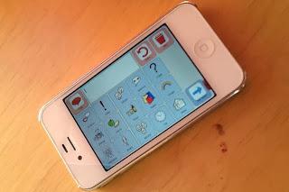 Bild på mobiltelefon med app