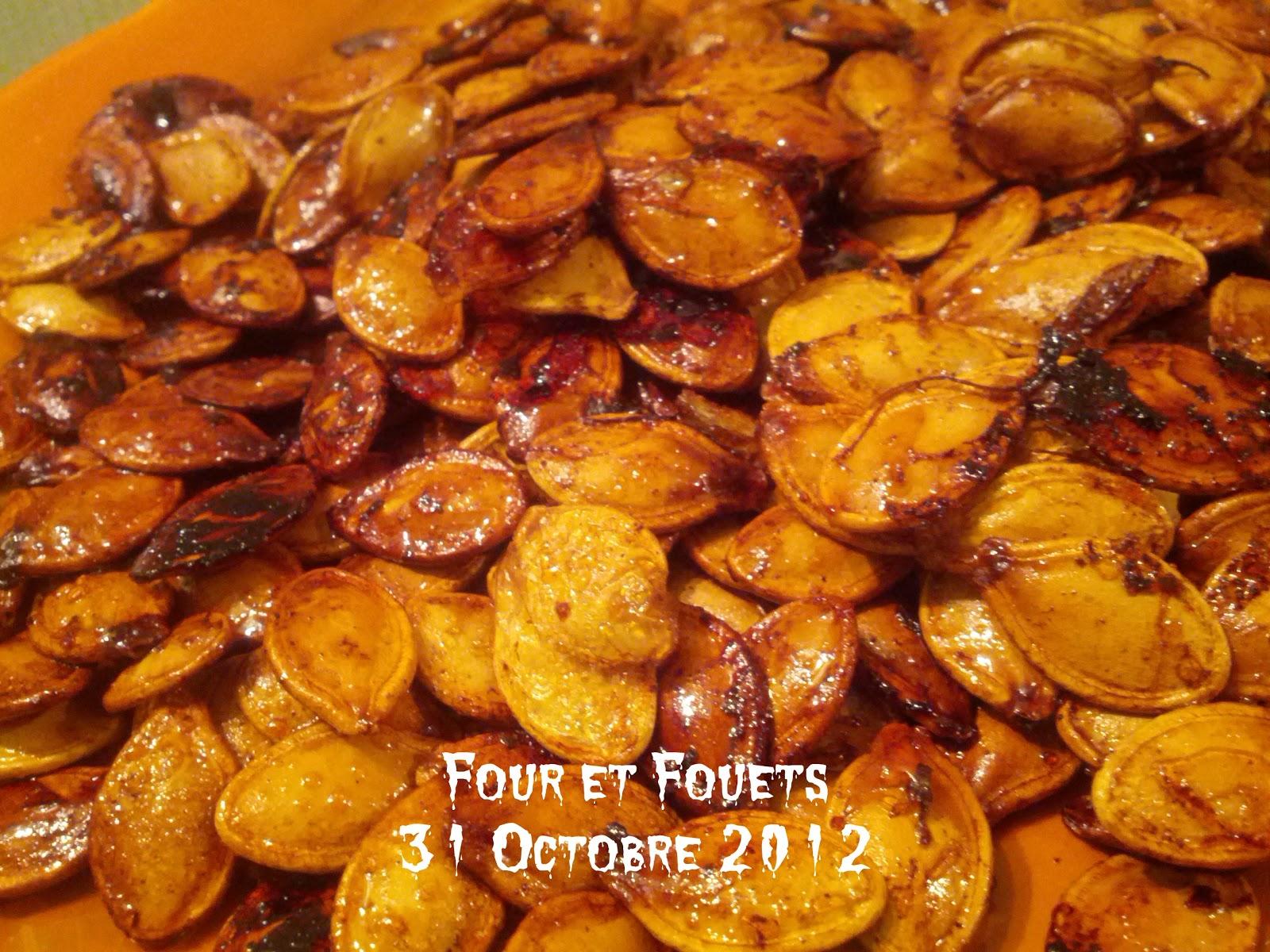 Four et fouets pour sara graines de citrouilles - Graines de citrouille grillees au four ...