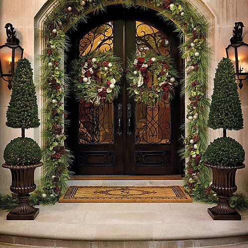 Fascinating articles and cool stuff most beautiful Outdoor christmas garland ideas