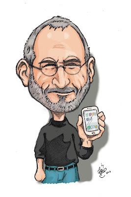 caricatura steve jobs