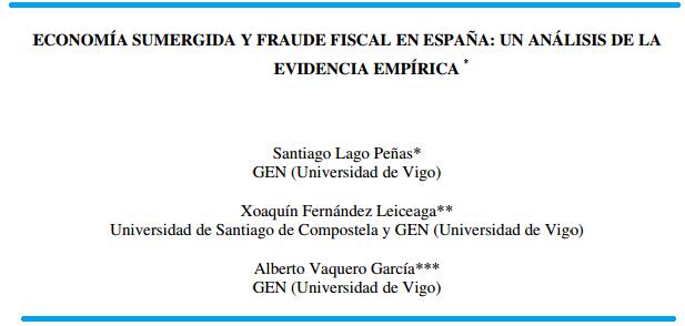 Economía sumergida y fraude social en España
