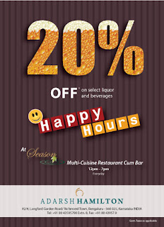 Happy Hours at Adarsh Hamilton