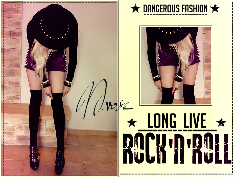 Rock & Roll Style, Studded Shorts,