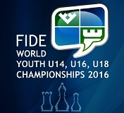 FIDE WORLD YOUTH U-14, U-16, U-18 CHAMPIONSHIPS 2016 (Clic a la imagen)
