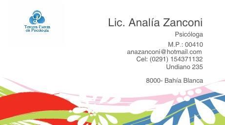 Lic. Analía Zanconi