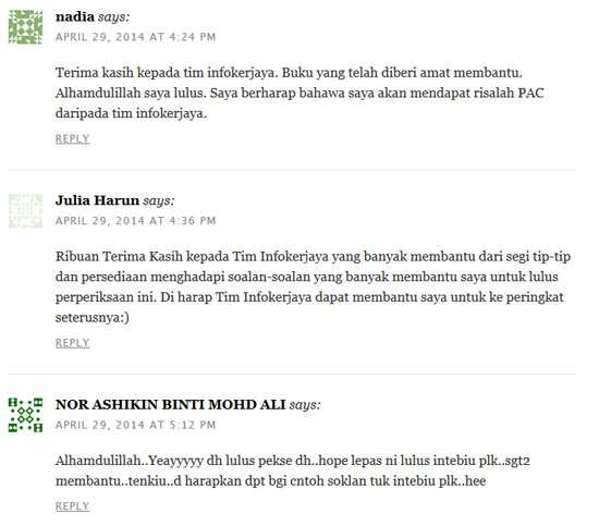 Testimonial dari pelanggan produk affiliate terbaik Tim Infokerjaya