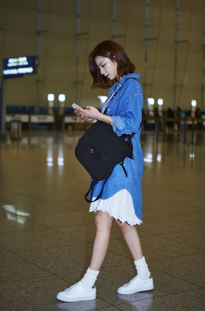 Soo Jin Airpot Fashion Style Denim