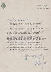 Carta del príncipe Felipe de Inglaterra.