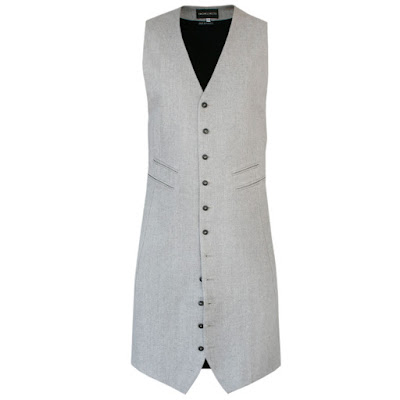ann demeulemeester mens long vest extra elongated waistcoat