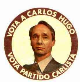 Vota a Carlos Hugo, vota Partido Carlista
