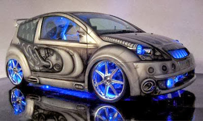 Neon Tuned Car