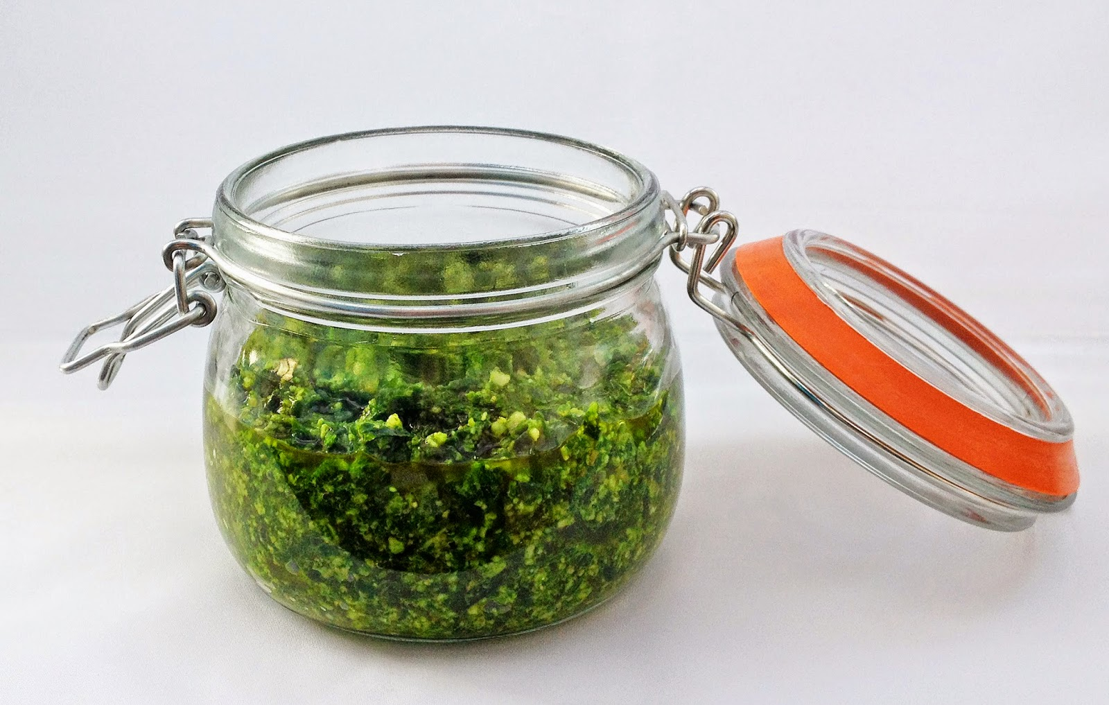 pesto made with wild garlic