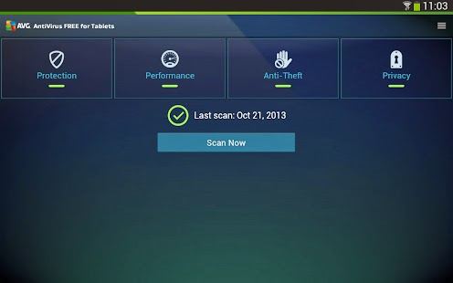 AVG Antivirus For Android Tablet