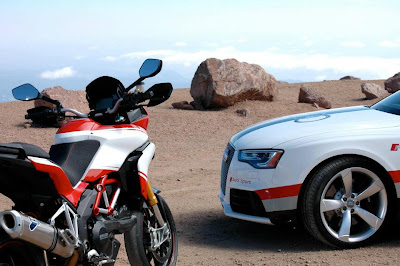 Ducati and Audi Take on Pikes Peak