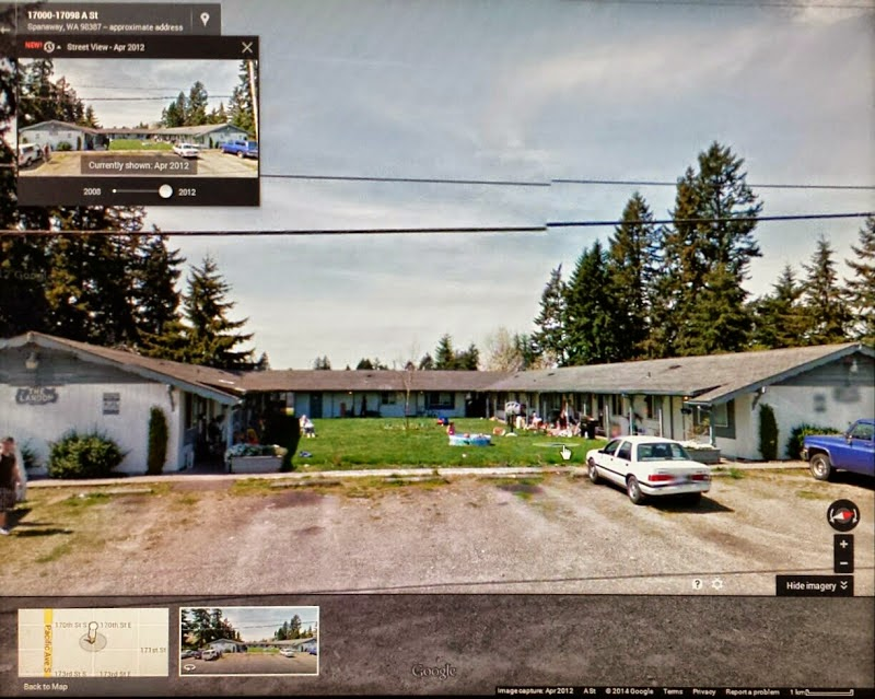 The Landon Apartments where, Julie alleges,   She was raped by NTCC Minister Michael A.   Fontenot in the midst of NTCC residences [map].