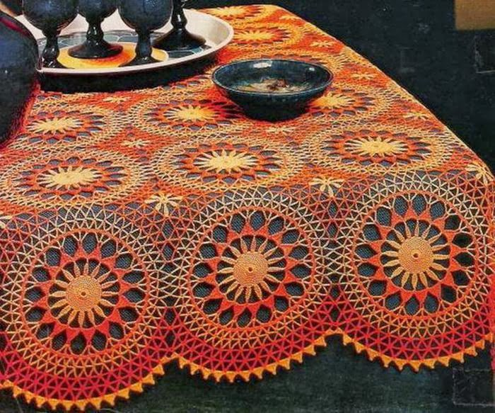 Crochet Art Patterns : Crochet Art: Crochet Tablecloth Pattern - Vintage Crochet