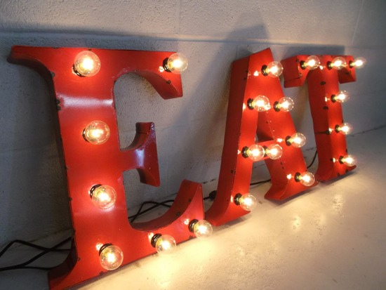 ive always been drawn to light up letter signs like this theyre the sort of thing that sitcom characters who live in trendy spacious lofts have