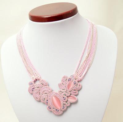 sutasz naszyjnik  soutache necklace  7b