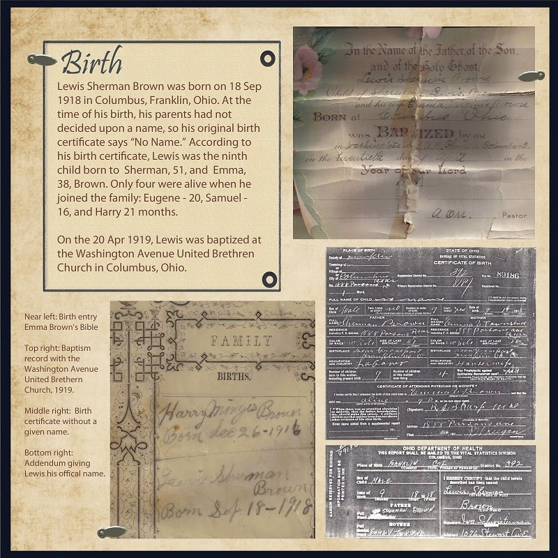 Heritage Scrapbook Baby Page Idea