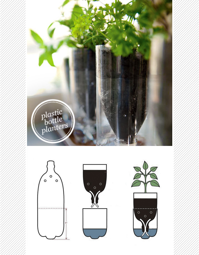 how to make planters out of plastic bottles