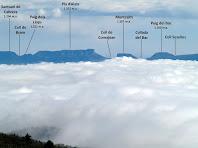 Les muntanyes del Cabrerès des del Turó de Sant Cugat