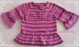 Örgü Pileli Çocuk Bluzu