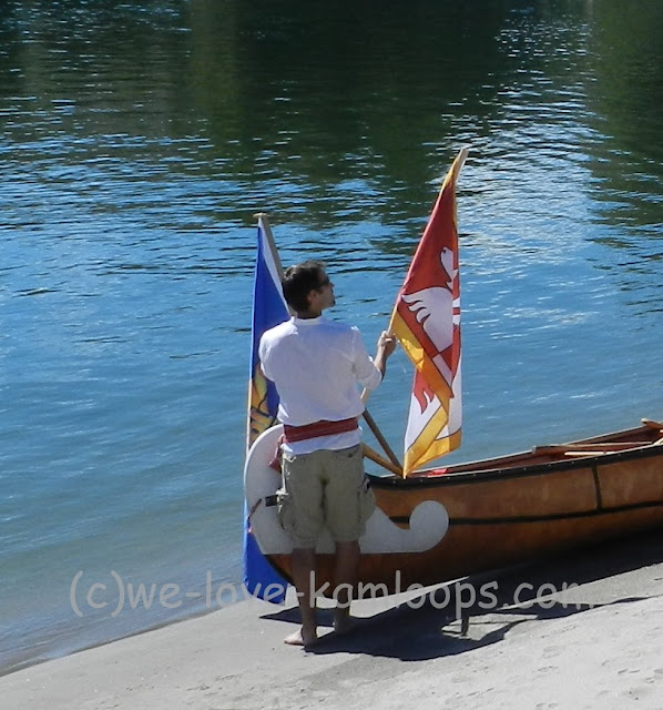 A flag is added to the canoe
